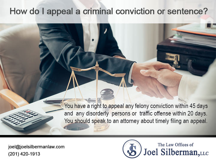 How do I appeal a criminal conviction or sentence?