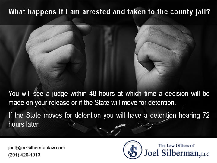 What happens if I am arrested and taken to the county jail?