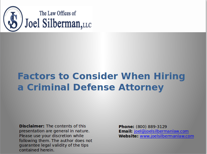 Factors to Consider When Hiring a Criminal Defense Attorney